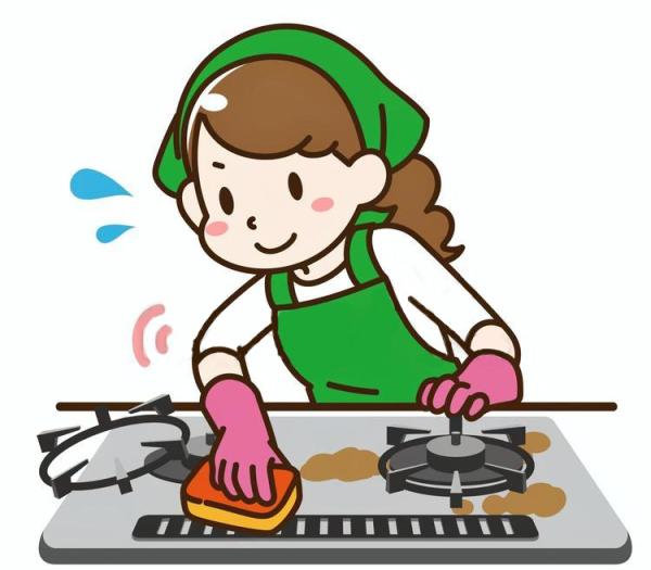 キッチンレンジ掃除
