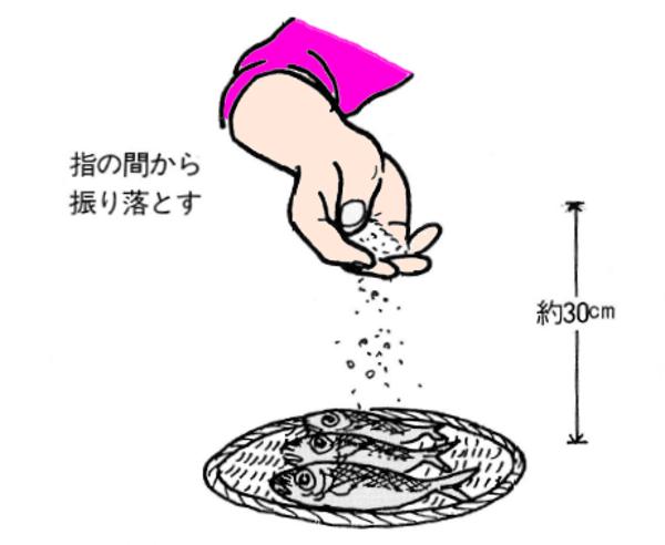 焼き魚の塩加減
