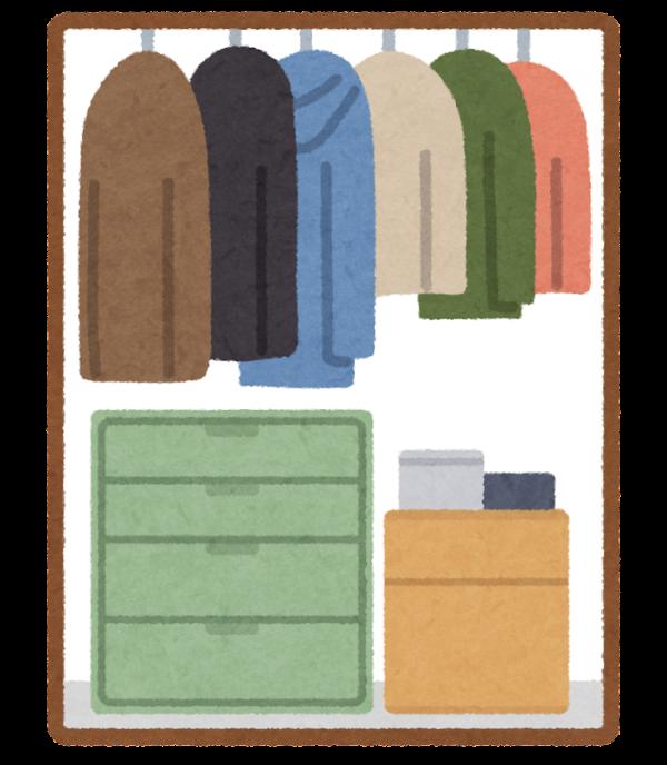 スーツやコート、ジャケットの収納