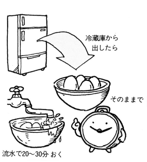 きれいなゆで卵の作り方