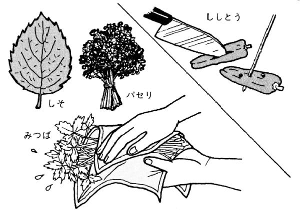 ししとうなど野菜類の天ぷら油のはねを防ぐ下ごしらえ